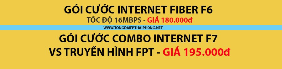 Gói cước Internet FPT tại Hải Phòng giá rẻ nhất